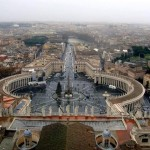 Sus,sus până pe cupola Basilicii San Pietro,Roma